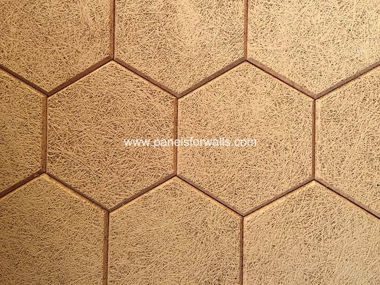 Hexagon Wood Wool Panels Manufacturer Hexagon Acoustic Tiles Colored Hexagon Tiles