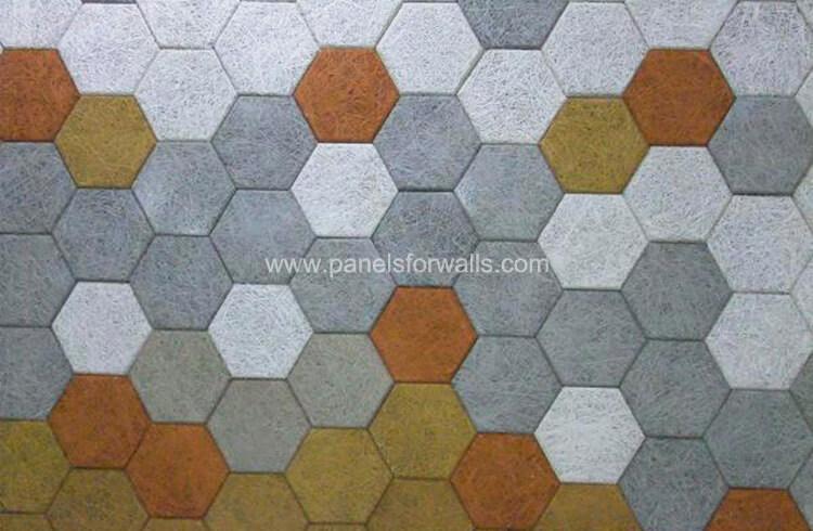 Wood Decorative Panels for Walls Hexagonal Acoustic Panels Wood Look Panels for Walls