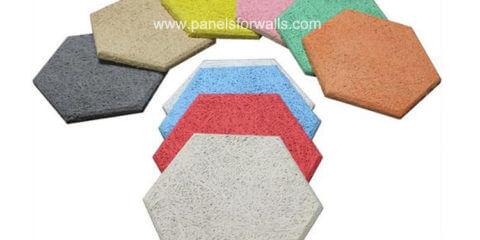 Wood Hexagon Tiles Manufacturer Wood Wool Hexagon Sound Absorbing Wall Tiles