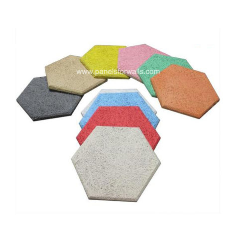 Wood Hexagon Tiles Manufacturer Wood Wool Hexagon Sound Absorbing Wall Tiles