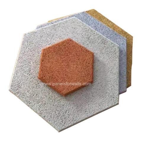 Wood Wool Hexagon Tiles Manufacturer Hexagon Wood Panels Wood Wool Hexagon Boards